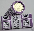 2 € x 25 szt. BELGIA Louise Braille 2009
