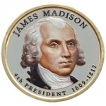 USA 1 $ James Madison 2007 nr 4 KOLOR x1