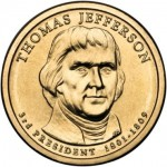 USA 1 $ Thomas Jefferson 2007 nr 3