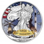 USA 1$ Eagle 60 lat NASA Skylab 1 OZ Ag.999 2018