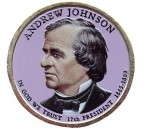 USA 1 $ Andrew Johnson 2011 nr 17 kolor x 1