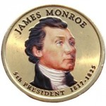 USA 1 $ James Monroe 2008 nr 5  KOLOR x1