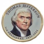USA 1 $ Thomas Jefferson 2007 nr 3 KOLOR x1
