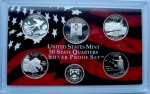 "USA Proof set Ag 5 x 25c Stany 2008 ""S"""
