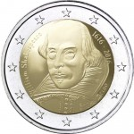 2 euro San Marino William Shakespeare 2016