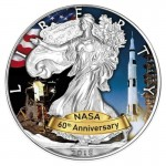 USA 1$ Eagle 60 lat NASA Apollo 1 OZ Ag.999 2018