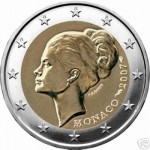 2 euro Monako Grace Kelly 2007
