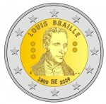2 euro Belgia Louise Braille 2009