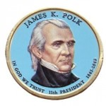 USA 1 $ James K. Polk 2009 nr 11 KOLOR x1
