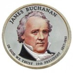 USA 1 $ James Buchanan 2010 nr 15 KOLOR x2