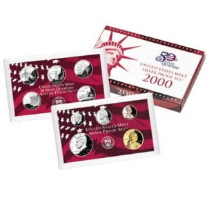 USA proof set Ag x 10 2000