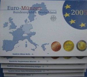 Euro set Niemcy x40 2005 ADFGJ proof