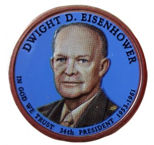 USA 1 $ Dwight D. Eisenhower 2015 nr 34  kolor x 2