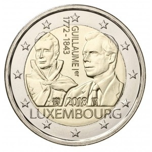 2 euro Luksemburg William I 2018
