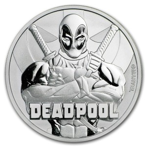 Tuvalu 1$ Deadpool 2018 1 Oz Ag.999