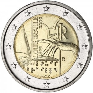 2 euro Włochy Louise Braille 2009