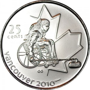 Kanada 25 c Wheelchair Curling Vancouver 2008