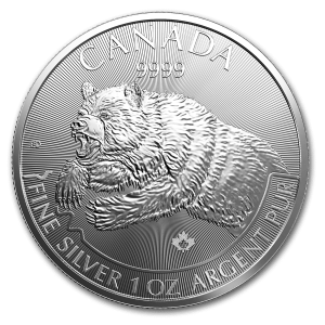 Kanada 5$ Grizli 1 OZ Ag.999 2019