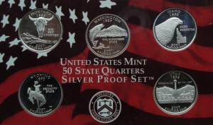 USA Proof set Ag 5 x 25 c 2007