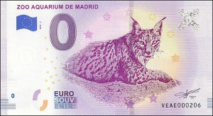 UE 0 euro Zoo Aquarium de Madrid Ryś 2018.3