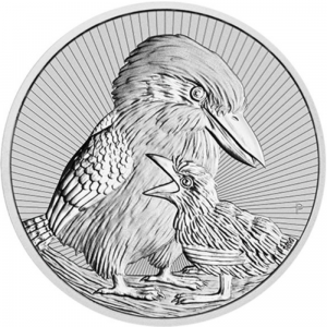 Australia 2$ Kookaburra Mother and baby 2020 2 Oz Ag.999