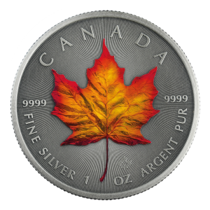 Kanada 5$ Maple Leaf Autumn 1 OZ Ag.999 2020