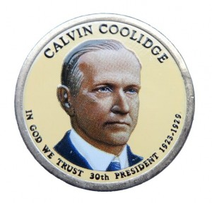 USA 1 $ Calvin Coolidge 2014 nr 30 kolor x 1