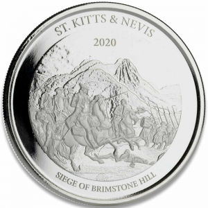St. Kitts & Nevis Siege Of Brimstone Ag999 1 Oz 2020
