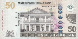 Surinam 50 $ Willa 2012 P-165b