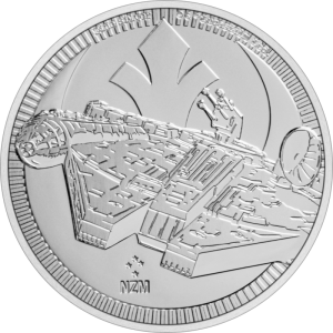 Niue 2 $ Falcon Star Wars 2021 1 Oz Ag.999