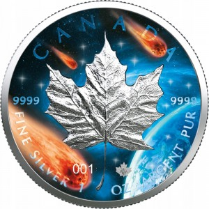 Kanada 5$ Maple Leaf 1 OZ Ag.999 2021 GG nr 02-010