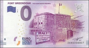 0 euro Fort Breendonk 2017.1