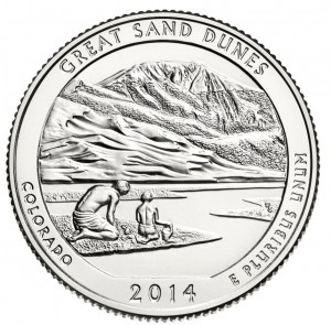 USA 25 c Park narodowy Great Sand Dunes 2014 nr 24