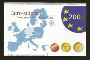 Euro set Niemcy x45 2006 ADFGJ proof