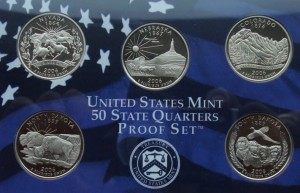 "USA Proof set 5 x 25c Stany 2006 ""S"""