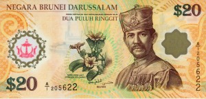 Brunei 20 ringgit 40 lat unii walutowej 2007 P-34a