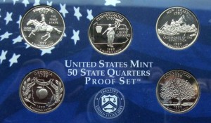 "USA Proof set 5 x 25c Stany 1999 ""S"""