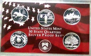 USA Proof set Ag 5 x 25 c 1999 RRR