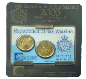 San Marino mini kit 20c +50c 2003