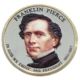 USA 1 $ Franklin Pierce 2010  nr 14 KOLOR x1