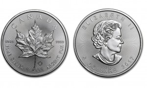 Kanada 5$ Maple Leaf 1 OZ Ag.999 2017