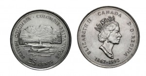 Kanada 25 c British Columbia 1992