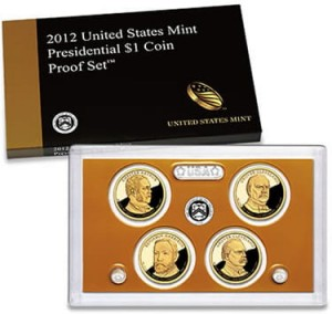 "USA Proof set 4 x 1$ Prezydenci ""S"" 2012"