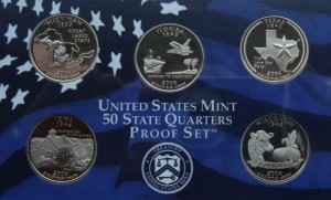"USA Proof set 5 x 25c Stany 2004 ""S"""