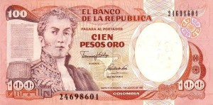Kolumbia 100 peso Willa 1991 P-426 A