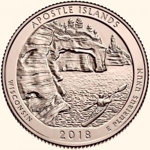 USA 25 c Park Apostle Islands 2018 nr 42 24kAu