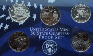 "USA Proof set 5 x 25c Stany 2002 ""S"""