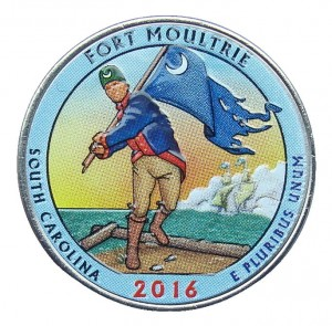 USA 25 c Park Fort Moultrie  2016 nr 35 kolor x 1