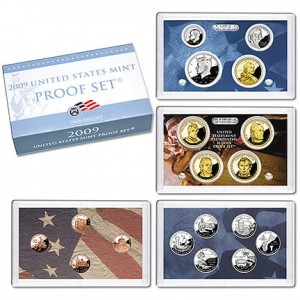 USA full set proof  x 18 monet 2009