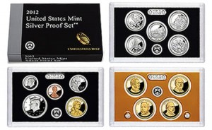 USA Proof set Ag x 14 monet 2012